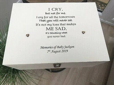 Personalised Loss Of A Child OR BABY Memory Box BEREAVEMENT Memorial ANY NAME