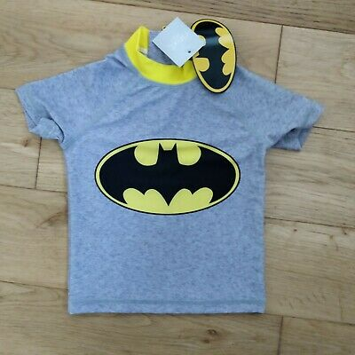 NEXT Baby Batman UV Sunsafe Beach Swim Top 9-12 Months new with tags