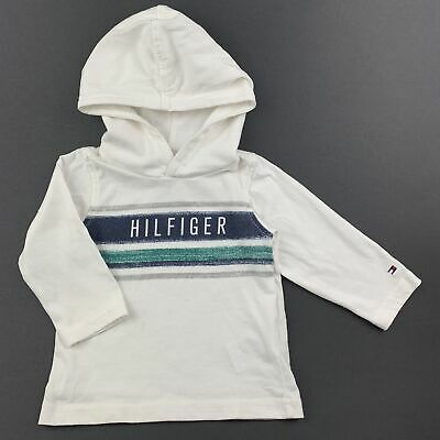 Boys size 00, Tommy Hilfiger, long sleeve hooded t-shirt / top, GUC