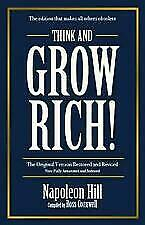 Think and Grow Rich by Napolean Hill Paperback Book Free Post AU NEW