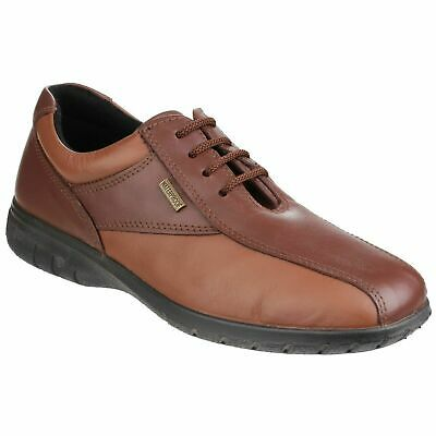 Cotswold Salford Womens Brown Smart Waterproof Leather Lace Up Shoes