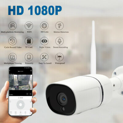 Wireless FHD 1080P WIFI IP Camera Onvif In/Outdoor Security IR Night Vision Cam