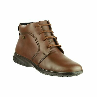 Cotswold Bibury Womens Brown Waterproof Leather Lace Up Ankle Boots