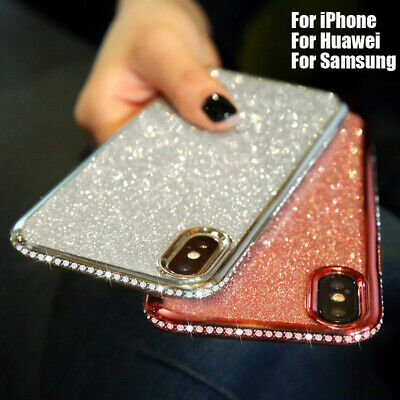 Bling Glitter Plating Diamond Soft Case for Huawei Mate 20 Lite P20 for iPhone