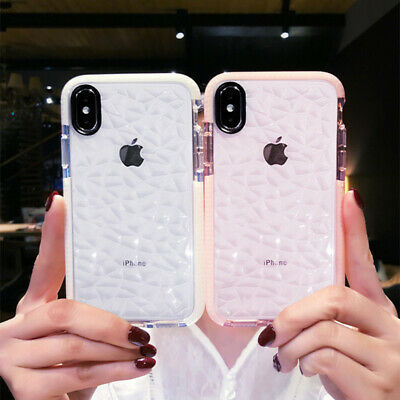 3D Crystal Diamond Soft Rubber Clear Case Cover For iPhone 11 2019 XS Max XR 8 7