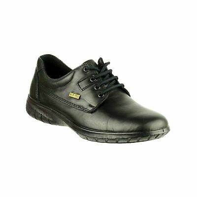 Cotswold Ruscombe Womens Black Smart Waterproof Leather Lace Up Shoes