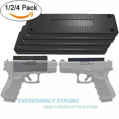 1/2/4 Pack Magnetic Gun Mount & Holster Rubber Coated Concealed Tactical Firearm