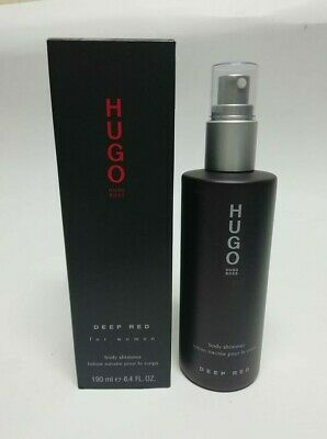 Hugo Boss Deep Red  For Woman Red Body Shimmer Lotion 190 ml New & Rare