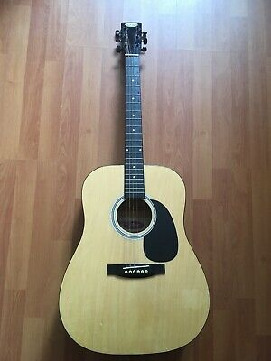 Stagg Dreadnought Acoustic Guitar SW203N Handmade Western In Natural Colour