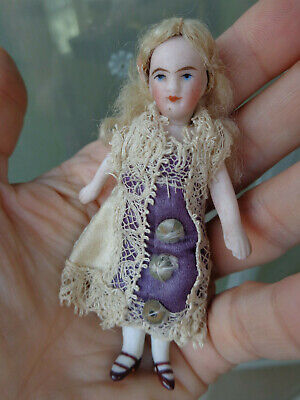 Antique doll cute French Mignonette closed mouth petite Parisienne for dollhouse