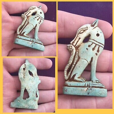 Rare ancient Egyptian animal amulet, 300 bc