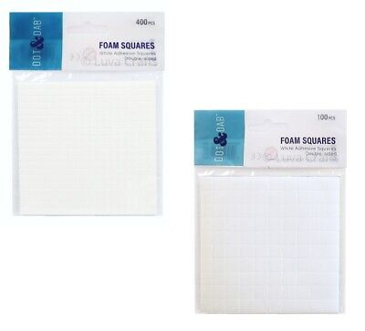 Dot & Dab Double Sided Adhesive Craft Foam Pads Squares 400x (5mm) / 100x (10mm)