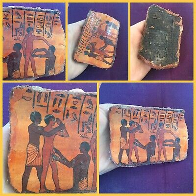 Rare ancient Egyptian style painted plaque
