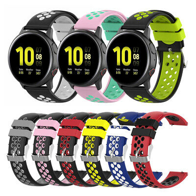 20mm Bracelet Wrist Strap for Samsung Galaxy Watch Active 2 Watch Band Silicone