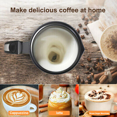 304 Stainless Steel Electric Milk Frother Milk Foam Machine Bubble Coffee Maker@