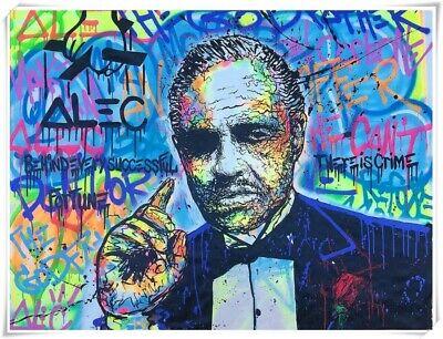 Alec monopoly The Godfather Home Decor Art Quality Canvas Print Oil Painting