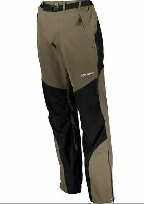 New Mens Montane Special Terra Stretch Nylon Outdoor Pants M Redwood Black W 32