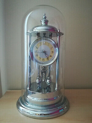 Pendule 400 jours - nickel bandstand torsion anniversary clock glass dome