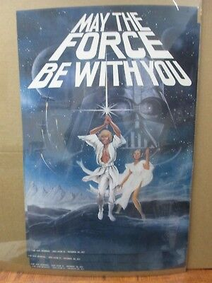 Vintage Poster Star Wars May the force be with you 1977 Inv#G1034