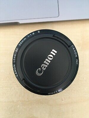 Canon EOS EF 50mm F1.8 II Autofocus Prime Lens for EOS DSLR with Caps