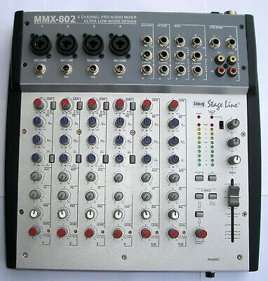Stage Line MMX-802 - Mixer Audio 8 Canali / 8 Channel Pro Audio Mixer