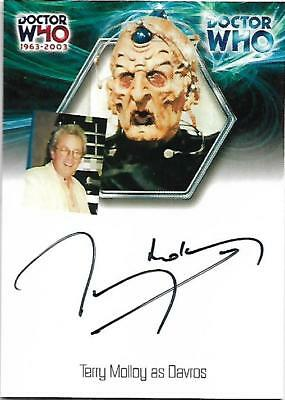 Doctor Who : 40th Anniversary Autograph Card WA10 Terry Molloy as Davros