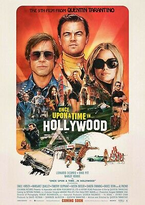 Quentin Tarantino ONCE UPON A TIME IN HOLLYWOOD Original INTL 27x40 DS Poster C