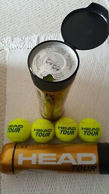 Used and New tennis balls in tins ~ excellent condition ~ 8 ~ FREE POSTAGE!