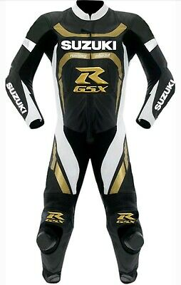 Suzuki GSXR Motorbike Racing Cowhide Leather Suit Professional Racing Jacket