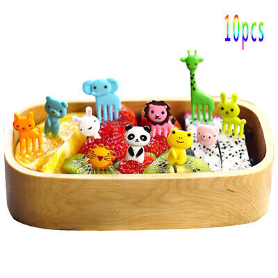 10* New Bento Cute Animal Food Fruit Picks Forks Lunch Box Accessory Decor Tool