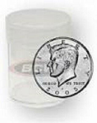 Round Half Dollar Coin Tubes 30.6mm by BCW 5 pack