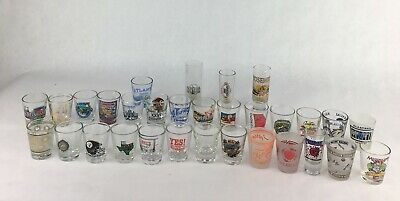 Collection Mixed Lot of 31 Shot Glasses