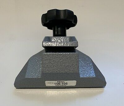 """Mitutoyo 156-105 Micrometer Stand & 103-177 Outside Micrometer 0-1"""" Set"""