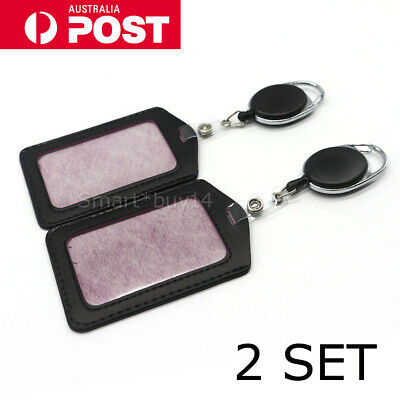 2PCS Retractable Lanyard ID, Card Holder, Business Badges, Security Pass AU