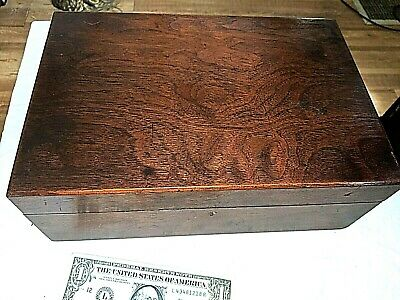 Antique PORTABLE Slope WRITING DESK Lap Top Document BOX
