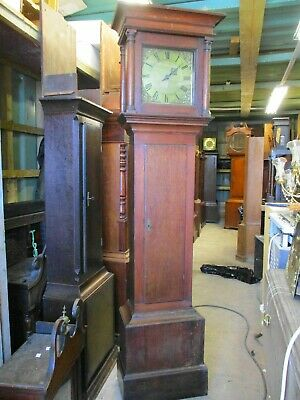 Wm Gregory of Odiham Hampshire 10 inch Brass Faced Posted Frame Longcase Clock