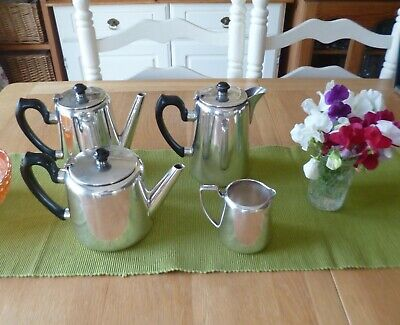 Vintage 1920'S/30'S Silver Plated Hotelware Tea/Coffee Service-Very Good Conditi