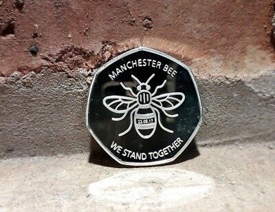 Manchester Bee Coin Souvenir We Stand Together New/Kew Gardens 50P Uk Fast Post