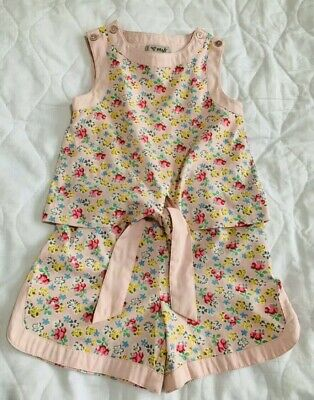Girls 3 Yrs NEXT Pink Flowery 💐 Lovely All In One Summer Shorts Playsuit