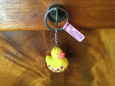 BUD Rubber Duck Keyring for Cancer Research - FLORA  - discontinued
