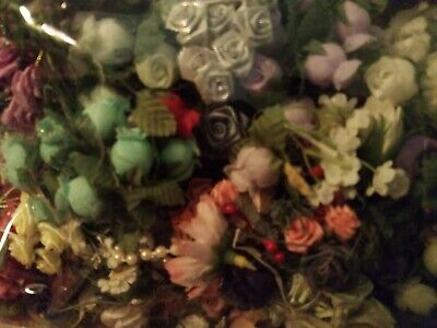 Lot-Assorted Small Craft Flowers 2Lbs +