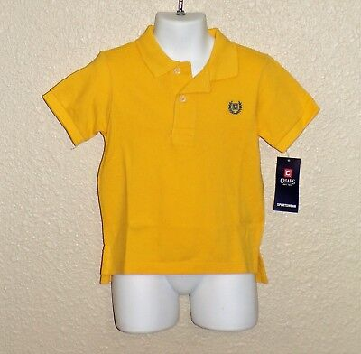 NEW NWT Toddler Boy CHAPS by RALPH LAUREN Yellow POLO SHIRT SZ24M $20