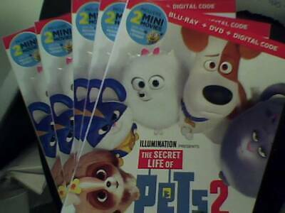 The Secret Life of Pets 2 (2019)  - Bluray Only - Opened - Unwatched Bluray