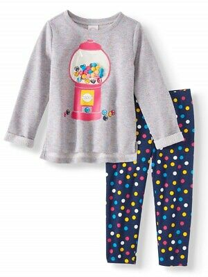 NWT Girls 2T Bubble Gum 2 Piece Top and Pant Set NEW