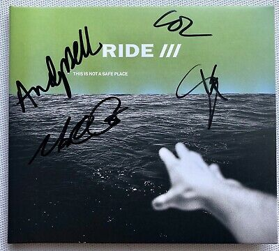 RIDE  - This Is Not A Safe Place HAND SIGNED CD AUTOGRAPHED