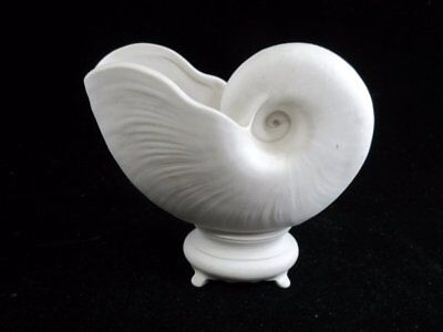 Nautilus Seashell Planter Ceramic Bisque Ready to Paint Signed