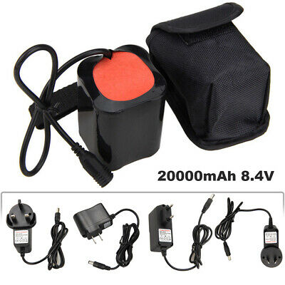 For MTB Bike Bicycle Light 20000//16000//12000mAh battery Pack Rechargeable 8.4V