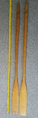 """Vintage Wooden Boat Oars 72"""" Hand Made Carved 1 solid piece Free Shipping!!"""