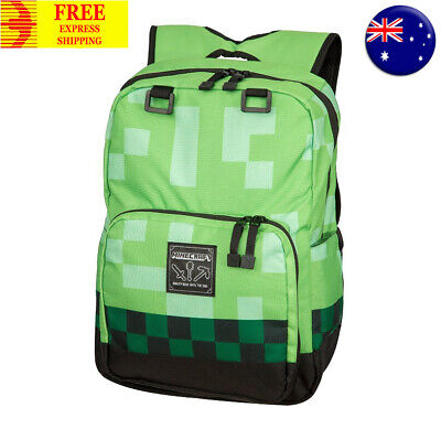 Minecraft Official Childrens Kids Green Creeper Backpack Rucksack School Bag