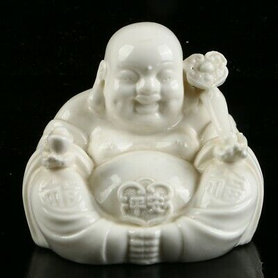 Chinese Dehua Porcelain Sculpture  Hand carved   Buddhism Statue  MC54